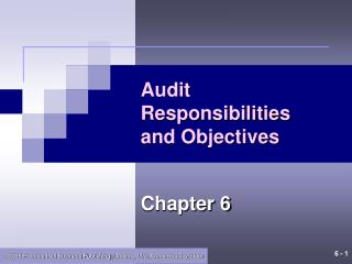 Audit Responsibilities and Objectives