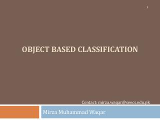 object based classification
