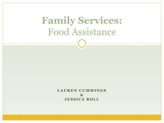 Family Services: Food Assistance