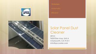 Solar Panel Dust Cleaner
