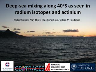 Deep-sea mixing along 40 o S as seen in radium isotopes and actinium