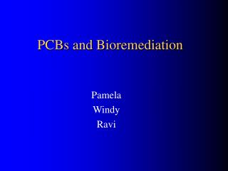 PCBs and Bioremediation