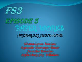 Fs3  EPISODE 5