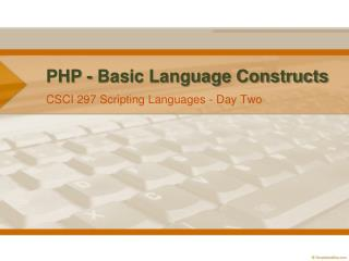 PHP - Basic Language Constructs