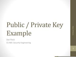 Public / Private Key Example