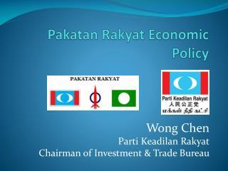 Pakatan  Rakyat Economic Policy