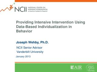 Providing Intensive Intervention Using Data-Based Individualization in Behavior
