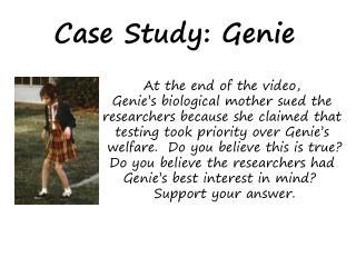 Case Study: Genie