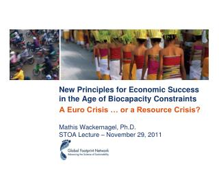 New Principles for Economic Success  in  the  Age of Biocapacity Constraints