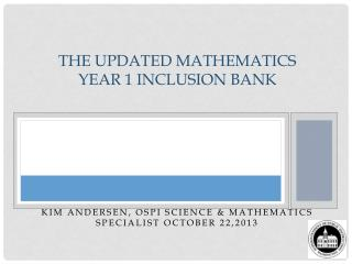 The  Updated  Mathematics Year 1 Inclusion Bank