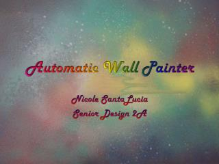 Automatic Wall Painter