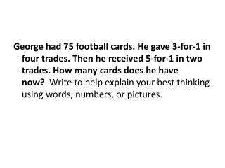 answer : 75 cards