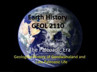 Earth History  GEOL 2110