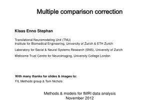 Multiple comparison correction