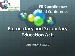 Elementary and Secondary Education Act: