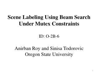 Problem: Semantic Segmentation
