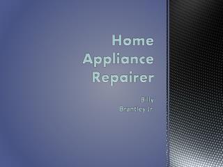 Home Appliance Repairer