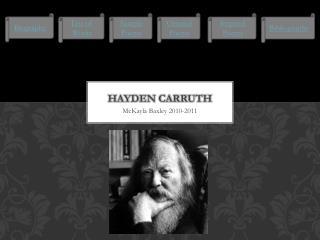 Hayden  Carruth