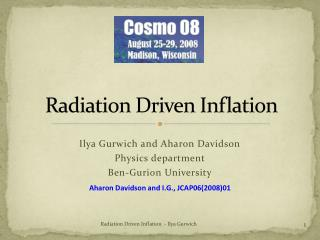 Radiation Driven Inflation