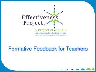 Formative Feedback for Teachers