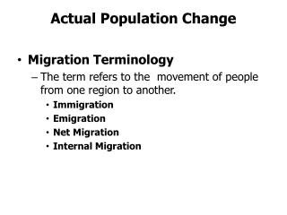 Actual Population Change