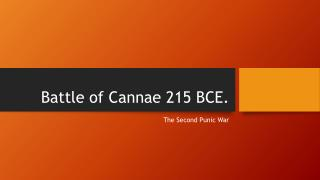 Battle of Cannae 215 BCE.