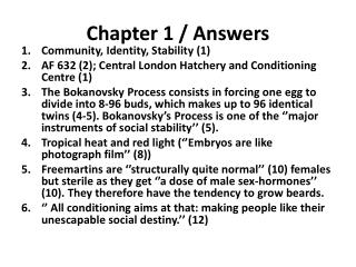 Chapter 1 / Answers