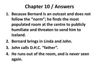 Chapter 10 / Answers