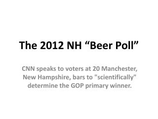 "The 2012 NH ""Beer Poll"""