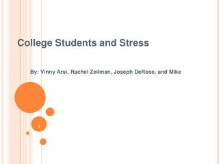 College Students and Stress