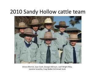2010 Sandy Hollow cattle team