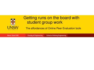 Getting runs on the board with student group work