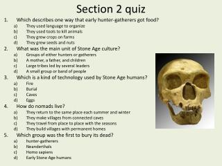 Section 2 quiz
