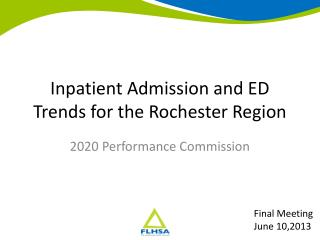 Inpatient Admission and ED Trends for the Rochester Region