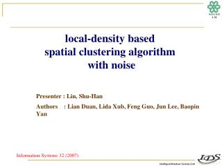local-density  based  spatial  clustering  algorithm with noise