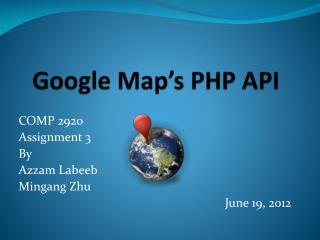 Google Map's PHP API