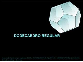 Dodecaedro en cubo y vacuo - GEOMETR