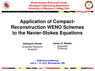 Application of  Compact -Reconstruction WENO Schemes to the Navier-Stokes Equations