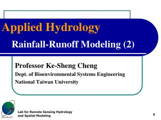Rainfall-Runoff Modeling (2)