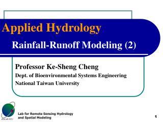 Rainfall-Runoff Modeling (2)