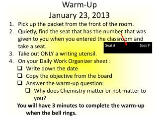 Warm-Up January 23, 2013