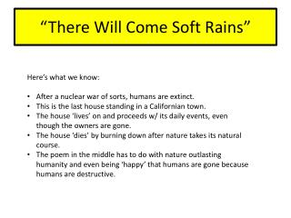 """There Will Come Soft Rains"""