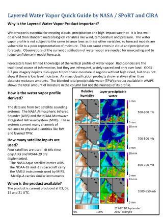 Layered Water Vapor  Quick Guide by NASA / SPoRT and CIRA