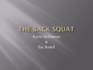 The Back Squat