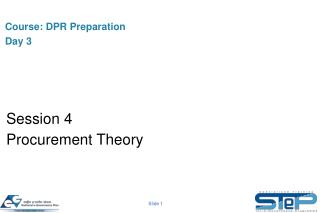 Course:  DPR Preparation Day 3