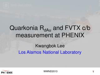 Quarkonia R dAu  and FVTX  c/b  measurement  at  PHENIX