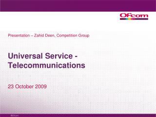 Universal Service -Telecommunications
