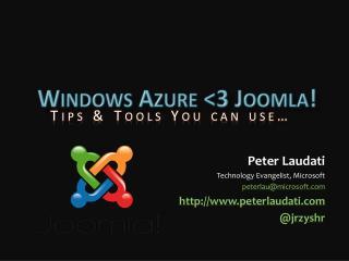 Windows Azure  <3 Joomla!