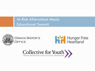 At-Risk Afterschool Meals  Educational Summit