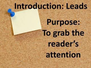 Introduction: Leads